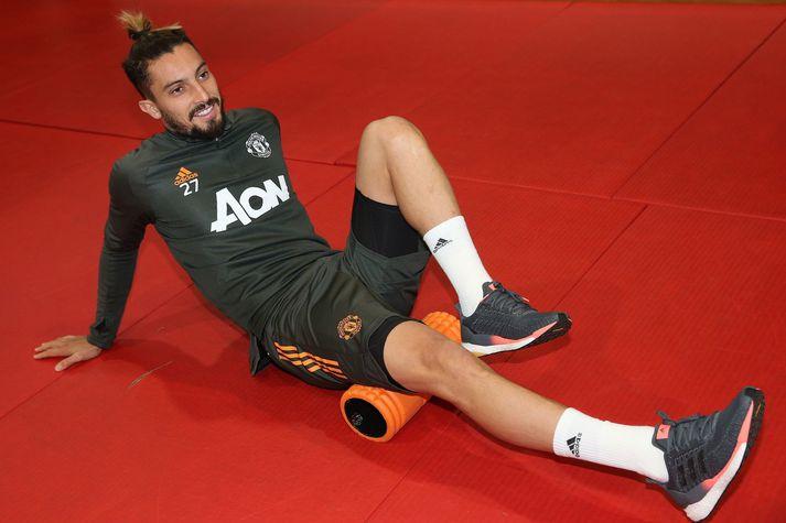 Alex Telles hefur misst af síðustu tveimur leikjum með Manchester United.