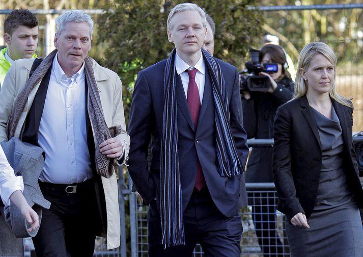 Kristinn Hrafnsson og Julian Assange.
