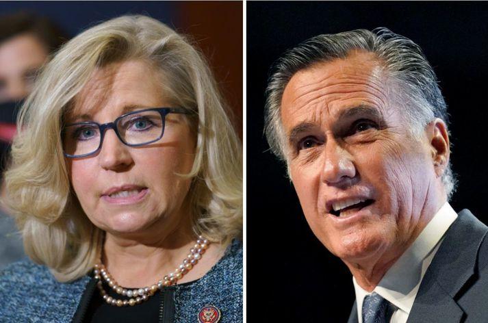 Liz Cheney og Mitt Romney.