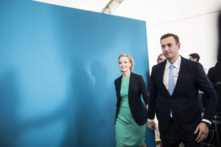 Júlía Navalnía og Alexei Navalní árið 2017.