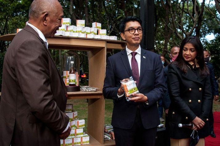 Andry Rajoelina (f.m.) hefur verið forseti Madagaskar frá árinu 2009.