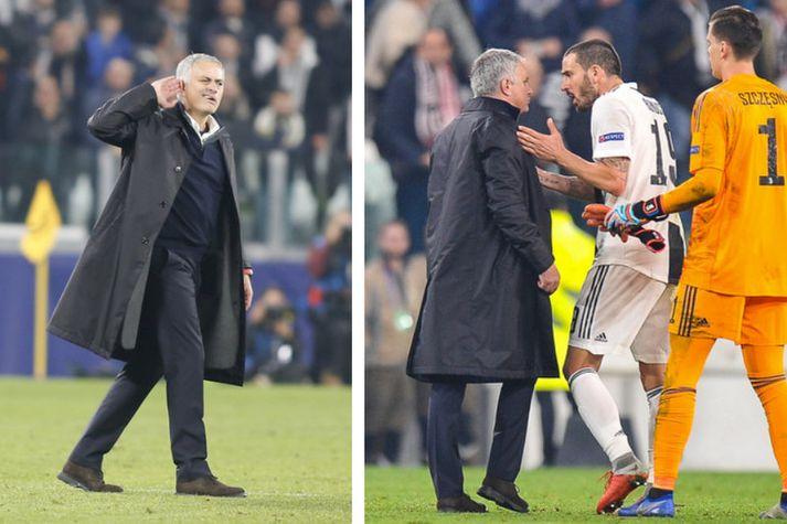 Leonardo Bonucci var allt annað en sáttur með hegðun Jose Mourinho.