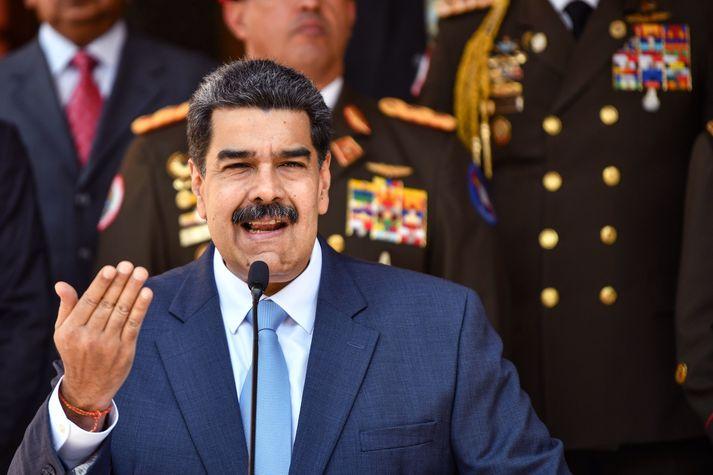 Bandaríkin viðurkenna ekki tilkall Nicoláss Maduro til valda í Venesúela.