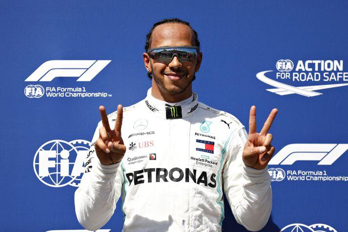 Hamilton er með forystu í keppni ökuþóra í Formúlu 1.