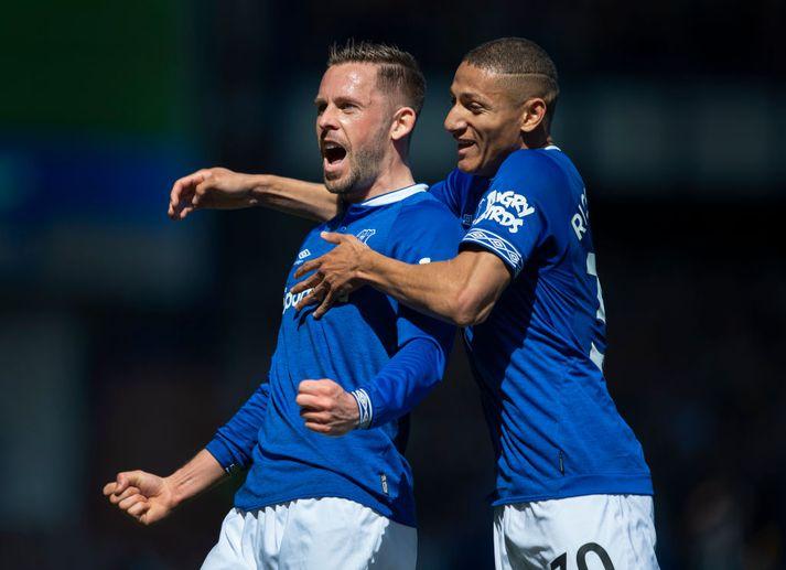 Gylfi og Richarlison hafa báðir skorað 13 deildarmörk fyrir Everton