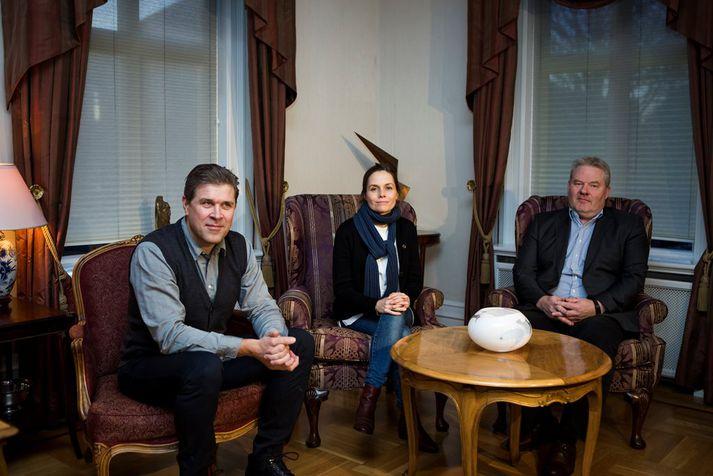 Bjarni Benediktsson, Katrín Jakobsdóttir og Sigurður Ingi Jóhannsson.