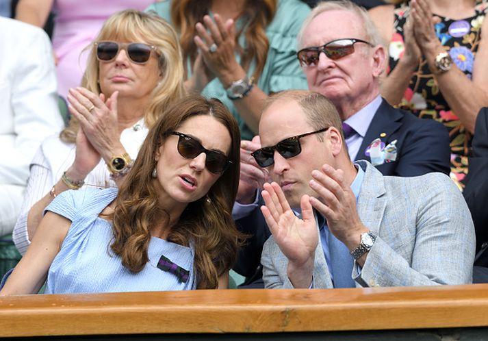 Katrín og Vilhjálmur á Wimbledon fyrr í ár.