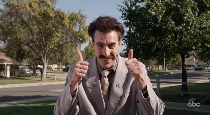 Borat hefur engu gleymt.