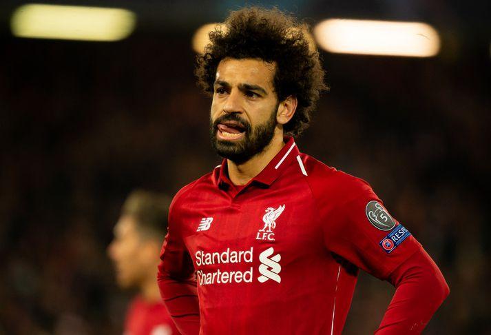 Mohamed Salah sleppur vonandi við að hlusta á þessa söngva í leiknum á móti Chelsea á sunnudaginn kemur.