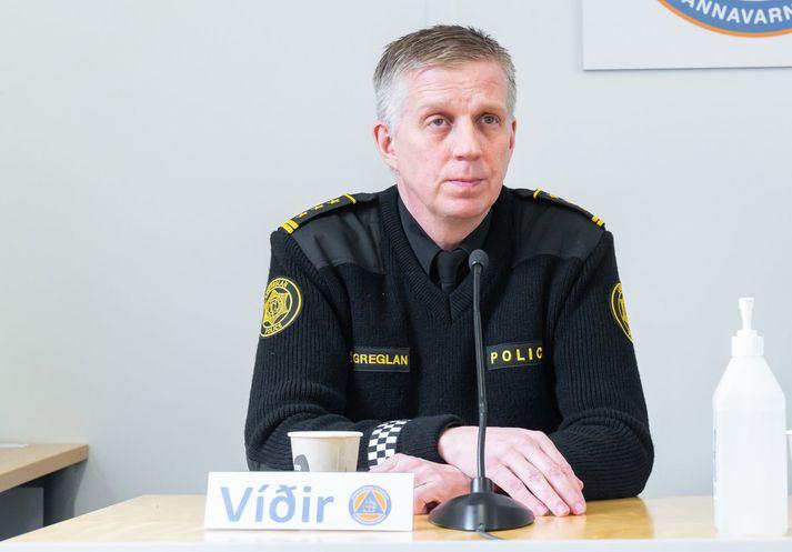 Víðir Reynisson hjá almannavarnardeild ríkislögreglustjóra.