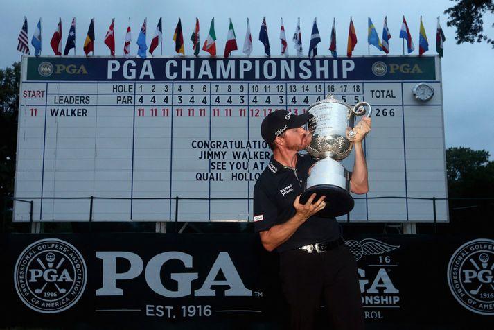 Jimmy Walker vann PGA-mótið í fyrra.
