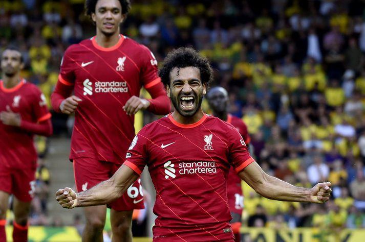 Mohamed Salah hefur verið duglegur við að skora mörk síðan hann gekk í raðir Liverpool.