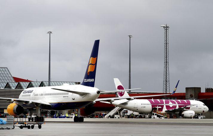 Mislingasmit hafa verið staðfest í vélum Icelandair og WOW Air í ár.