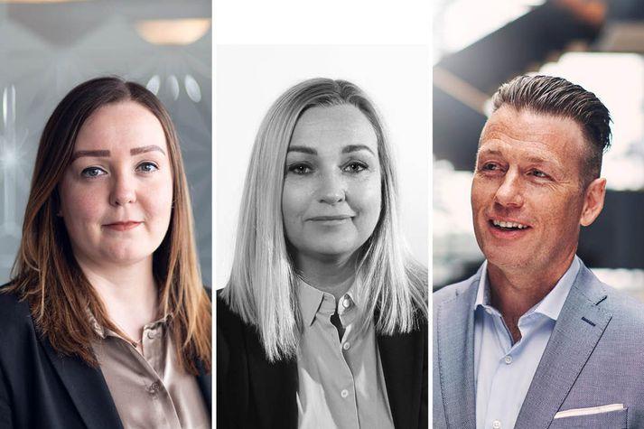 Fv: Sigrún Ósk Jakobsdóttir, Ella Sigga Guðlaugsdóttir og Ketill Berg Magnússon.