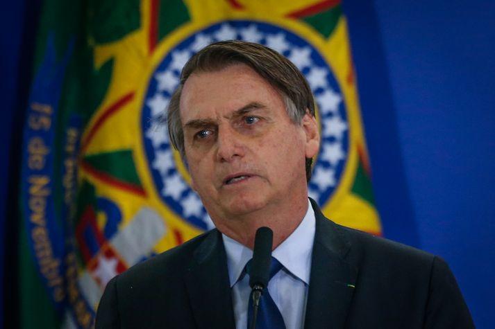 Jair Bolsonaro er ekki vinsæll meðal náttúruverndar- og mannréttindasinna.