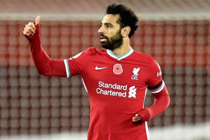Mohamed Salah er markahæsti leikmaður Liverpool á leiktíðinni til þessa.