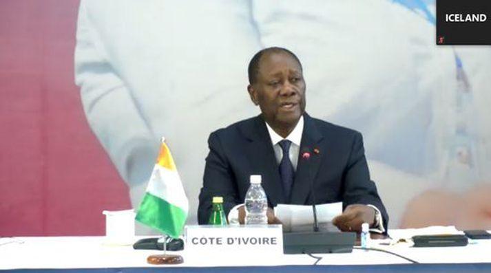 Alassane Ouattara forseti Fílabeinsstrandarinnar var gestgjafi fundarins sem haldinn var í Abidjan, stærstu borg landsins.