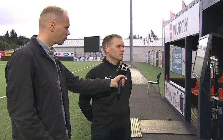 Egill Arnar Sigurþórsson fór yfir tvær ákvarðanir sínar í leik Fylkis og Leiknis í Pepsi Max stúkunni á Stöð 2 Sport.