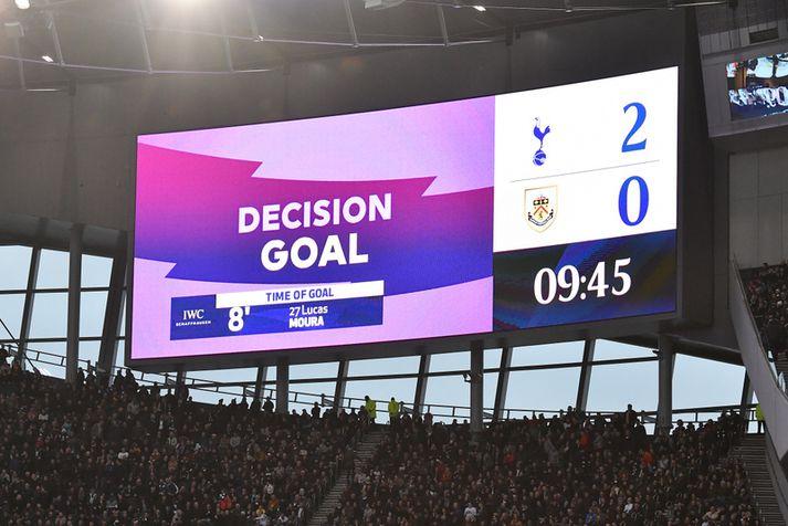 Tilkynning um VAR á heimavelli Tottenham.