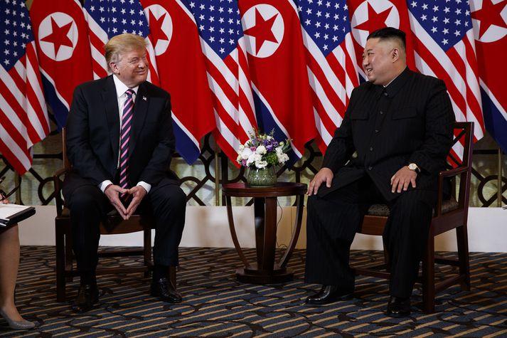 Trump og Kim í Hanoi.