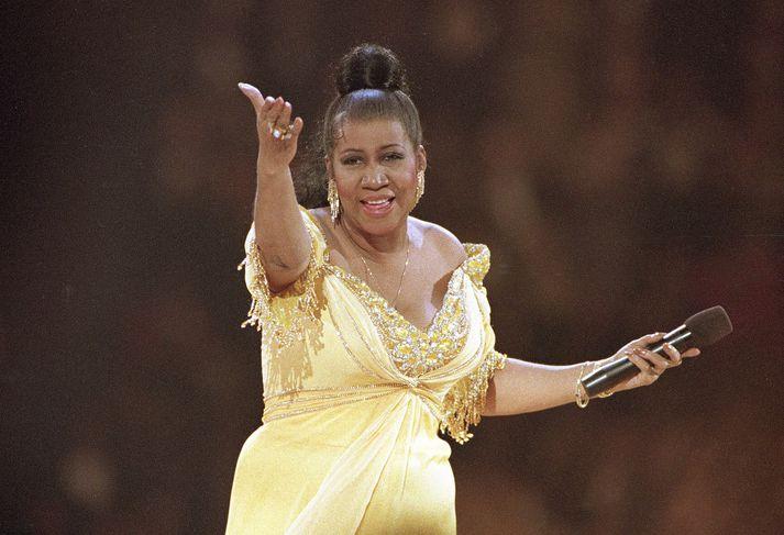 Aretha Franklin á tónleikum árið 1993.
