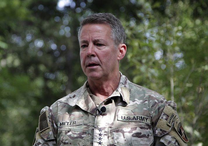 Austin S. Miller, yfirmaður herafla Bandaríkjanna í Afganistan.