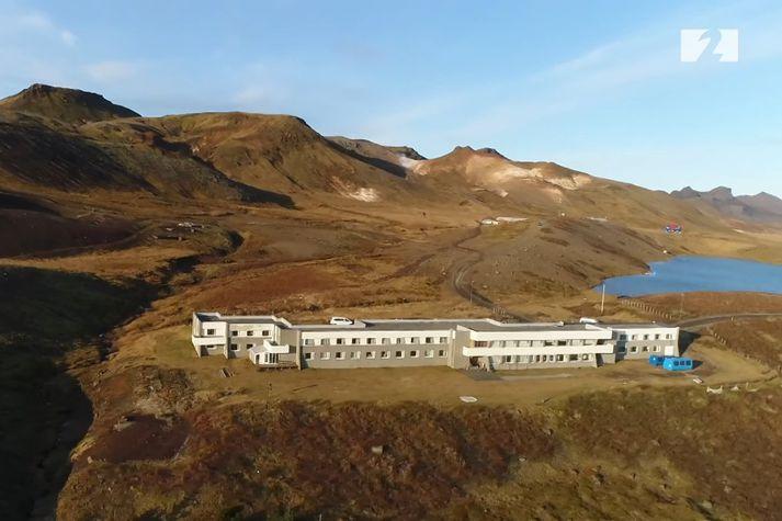 Krýsuvíkurskóli í dag. Upptök skjálftans voru 4-5 kílómetra frá staðnum en 30 manns voru í skólanum.