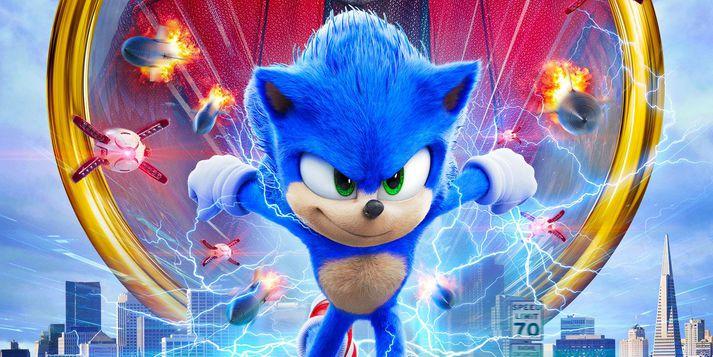 Tölvuleikjapersónan Sonic er mætt í bíó.