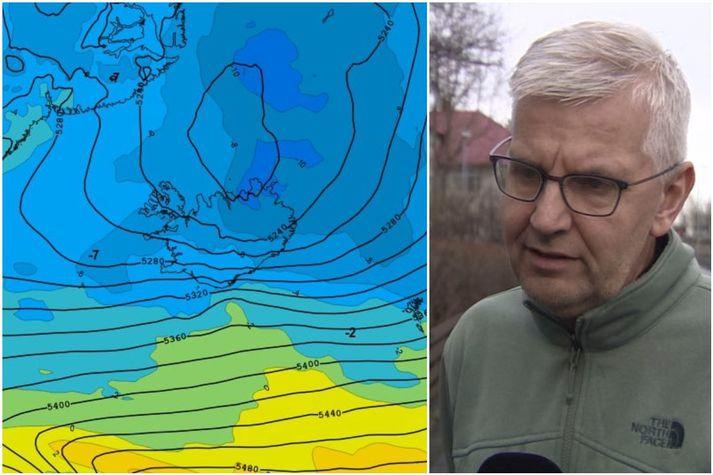 Einar Sveinbjörnsson segir að klárlega sé um að ræða einn mesta kulda af þessum toga í áraraðir.