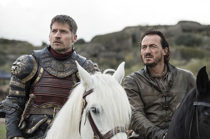 Nikolaj Coster-Waldau og Jerome Flynn í Game of Thrones.