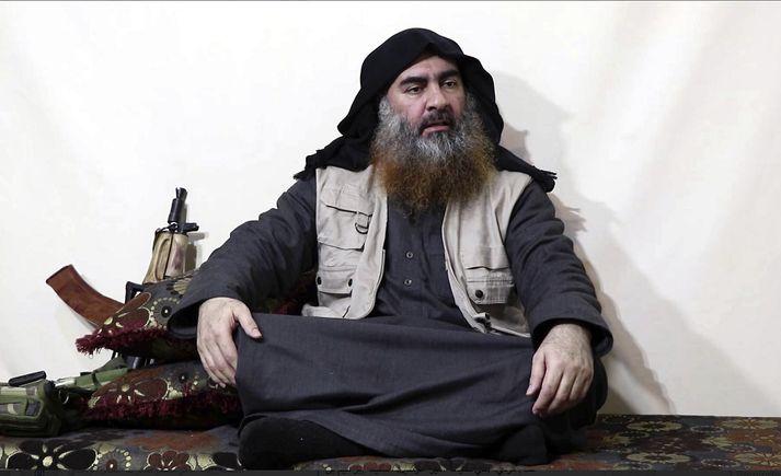 Abu Bakr al-Baghdadi sprengdi sig og þrjú börn sín í loft upp á laugardaginn þegar bandarískir sérsveitarmenn króuðu hann af.