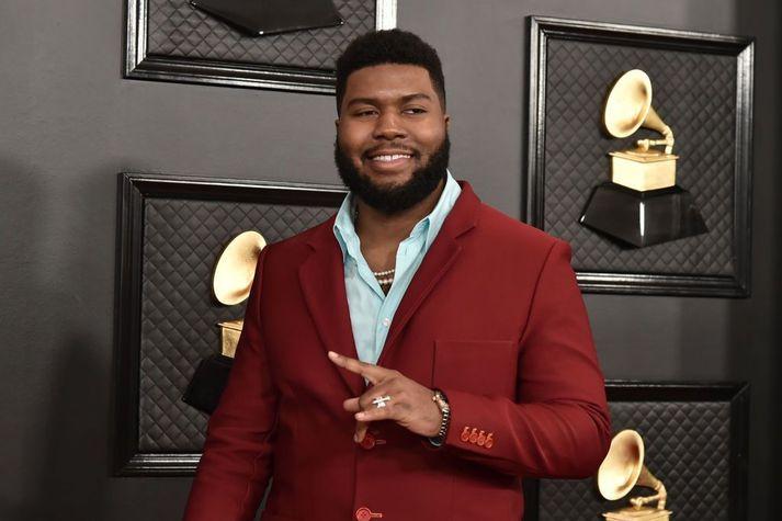 Khalid á Grammy-verðlaunahátíðinni í Los Angeles í janúar síðastliðinn.