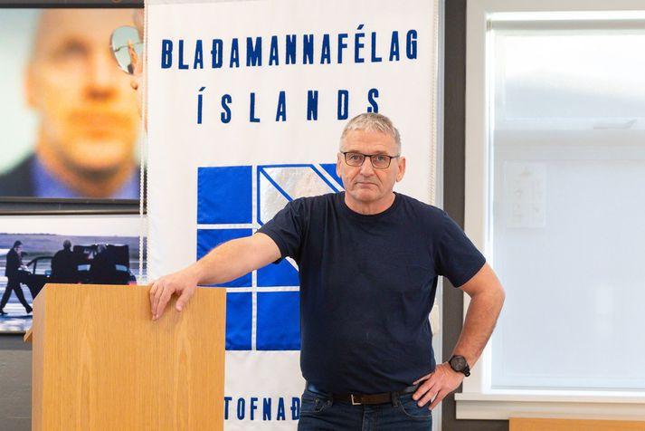 Hjálmar Jónsson er formaður Blaðamannafélags Íslands