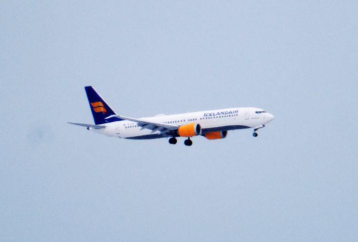 TF-ICE vél Icelandair af gerðinni Boeing 737 MAX 8.
