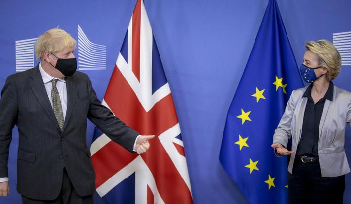 Boris Johnson og Ursula von der Leyen.