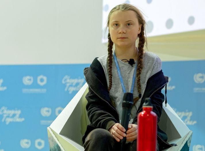 Þrátt fyrir ungan aldur hefur Greta Thunberg látið verulega að sér kveða í umræðunni um loftslagsmál.