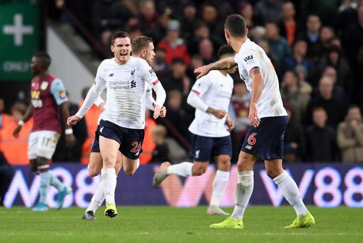 Robertson skoraði mikilvægt mark fyrir Liverpool í dag