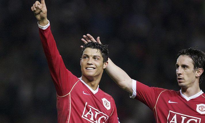 Ronaldo og Neville léku saman hjá United á sínum tíma.