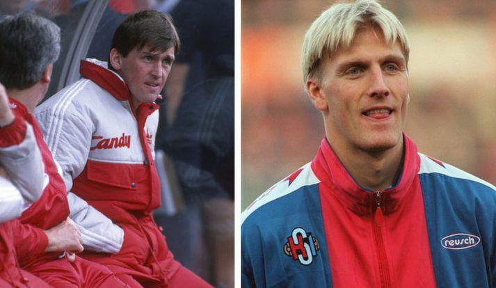 Kenny Dalglish á 1989-90 tímabilinu og Rúnar Kristinsson.