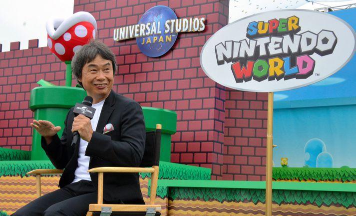 Miyamoto er einn áhrifamesti tölvuleikjahönnuður sögunnar.