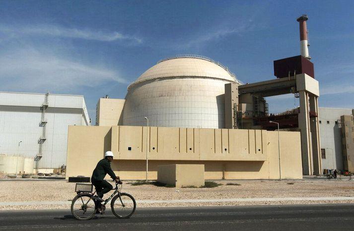 Bushehr-kjarnorkuverið í sunnanverðu Íran árið 2010.