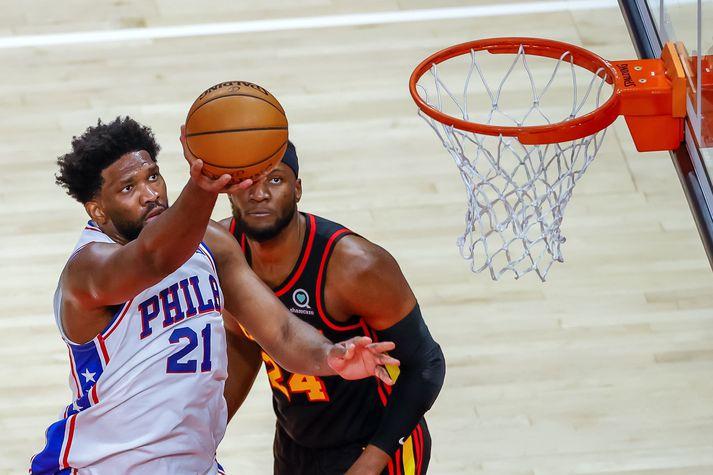 Joel Embiid var frábær í liði Philadelphia 76ers í nótt.