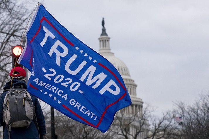 Fjölmargir stuðningsmenn Donalds Trump hafa komið saman í Washington DC.