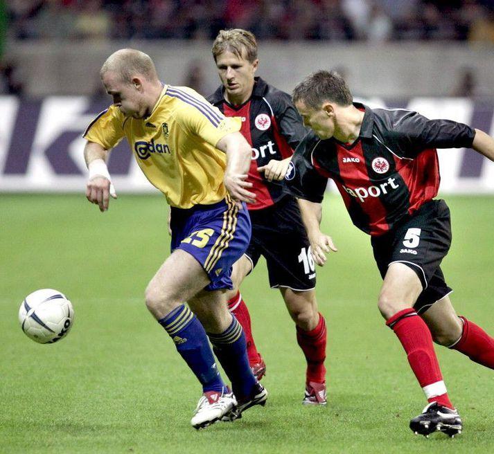 Hannes í Evrópuleik með Brøndby gegn Eintracht Frankfurt í septembermánuði 2006.