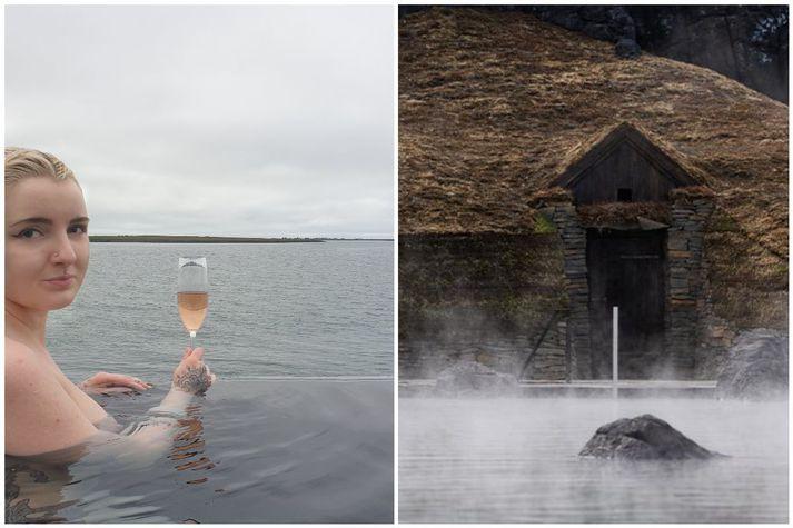 Diljá var vísað á dyr í Sky Lagoon fyrir að vera ber að ofan.