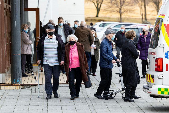 Bólusetningar á höfuðborgarsvæðinu hafa að mestu farið fram í Laugardalshöll.