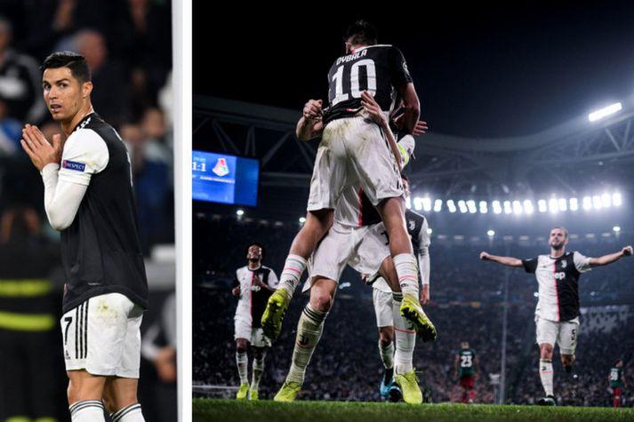 Cristiano Ronaldo og Paulo Dybala að fagna öðru marka sinna.