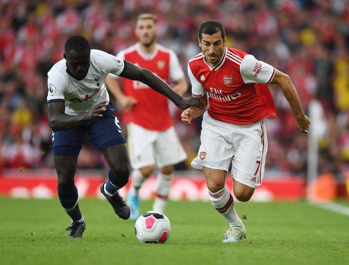 Mkhitaryan í leiknum gegn Tottenham sem reyndist hann síðasti leikur.