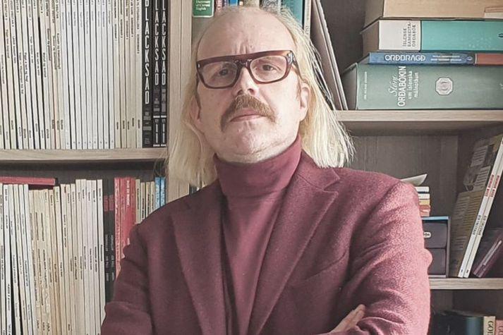 Óttarr ræddi heillengi við Snæbjörn Ragnarsson
