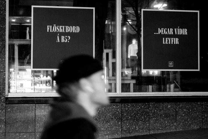 Flöskuborðin á b5 hafa ekki verið í boði í samkomubanni.